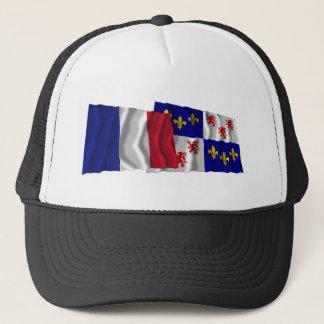 France & Picardie waving flags Trucker Hat