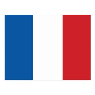 France Plain Flag Postcard