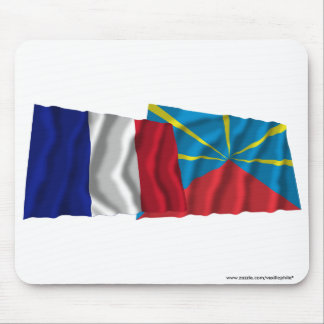 France & proposed Réunion waving flags Mouse Pad