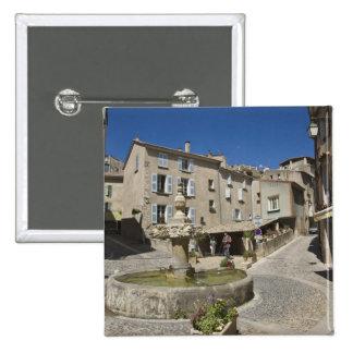 France, Provence, Valensole. Tourists explore 15 Cm Square Badge
