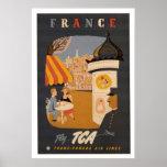 France Retro Travel Poster
