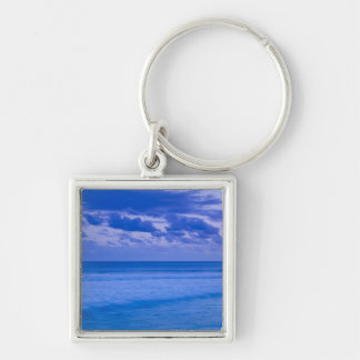 France, Reunion Island, St-Pierre, waterfront Silver-Colored Square Key Ring
