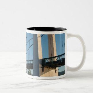 France, Rhone-Alps, Condrieu, bridge across 2 Mug