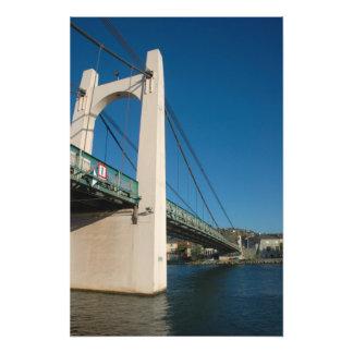 France, Rhone-Alps, Condrieu, bridge across 2 Photo Art