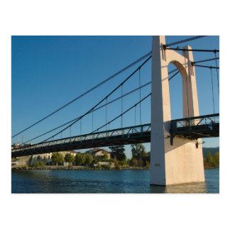 France, Rhone-Alps, Condrieu, bridge across 2 Postcard