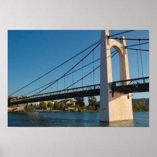 France Rhone-Alps Condrieu bridge across 2 Poster