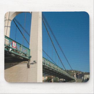 France, Rhone-Alps, Condrieu, bridge across Mouse Pad