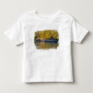 France, Rhone River, near Avignon, barge along T Shirt
