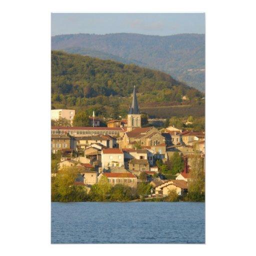 France, Rhone River, town near Vienne 2 Photo Print