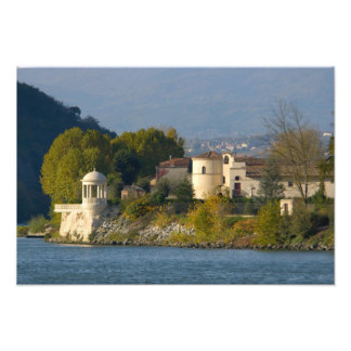 France, Rhone River, town near Vienne Photographic Print