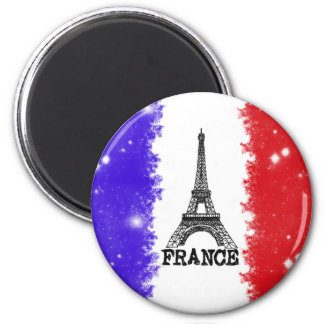 France Round Magnet