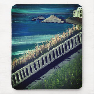France seaside mouse pad