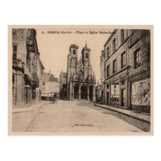 France Semor Place de l'eglise de Notre Dame 1903 Post Card