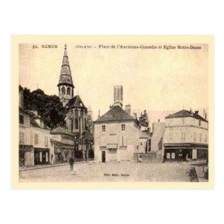 France, Semur, Place de l'eglise Postcards