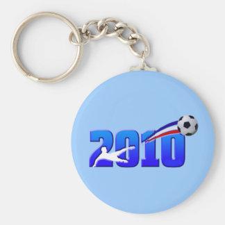 France Soccer Les Bleus 2010 Basic Round Button Key Ring
