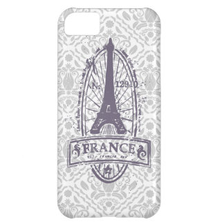 France stamp, french art on gray damask iPhone 5 iPhone 5C Covers