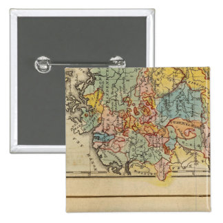 France, Switzerland, Germany 15 Cm Square Badge