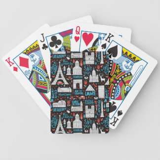 France | Symbols Pattern Bicycle Playing Cards