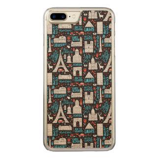 France | Symbols Pattern Carved iPhone 8 Plus/7 Plus Case