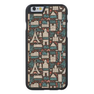 France | Symbols Pattern Carved Maple iPhone 6 Case
