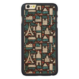 France | Symbols Pattern Carved Maple iPhone 6 Plus Case