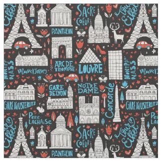 France | Symbols Pattern Fabric