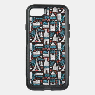 France | Symbols Pattern OtterBox Commuter iPhone 8/7 Case