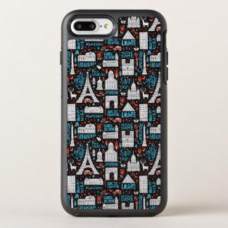 France | Symbols Pattern OtterBox Symmetry iPhone 8 Plus/7 Plus Case