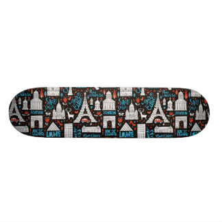 France | Symbols Pattern Skateboards