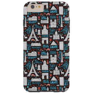 France | Symbols Pattern Tough iPhone 6 Plus Case