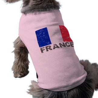 France Vintage Flag Sleeveless Dog Shirt