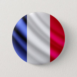 France waving flag pinback button