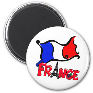 France with Flag Products Fridge Magnets