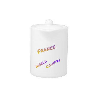 France world country, colorful text art