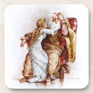 Frances Brundage: King Lear and Cordelia Coaster