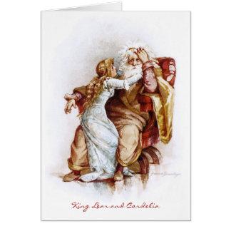 Frances Brundage: King Lear and Cordelia Greeting Card