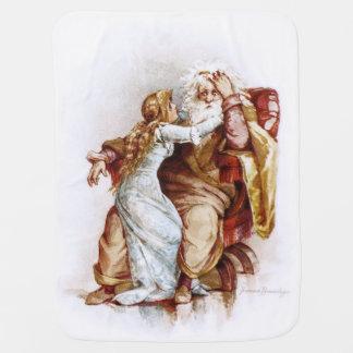 Frances Brundage King Lear and Cordelia Swaddle Blankets