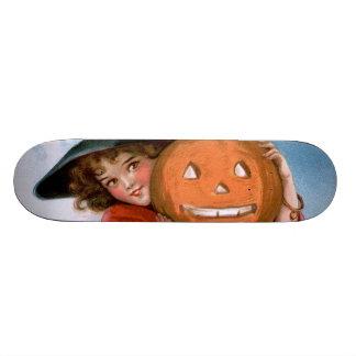Frances Brundage: Witch with Jack O'Lantern Skate Board Deck