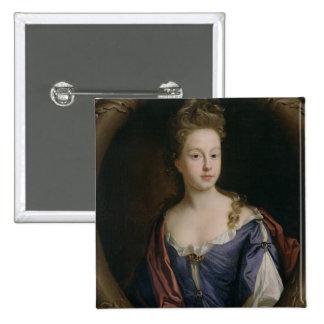 Frances Hales, c.1680-90 (oil on canvas) 15 Cm Square Badge
