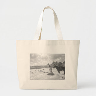 Frances Phelps Belden fly fishing in the river Large Tote Bag
