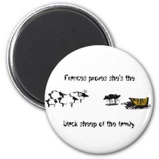 Frances the Black Sheep 6 Cm Round Magnet