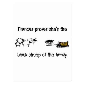 Frances the Black Sheep Post Card