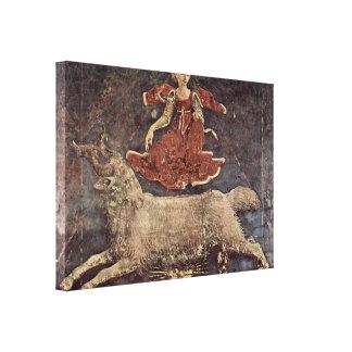 Francesco del Cossa - Allegory of Spring Gallery Wrapped Canvas