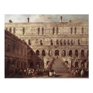 Francesco Guardi- The Coronation of the Doge Postcard