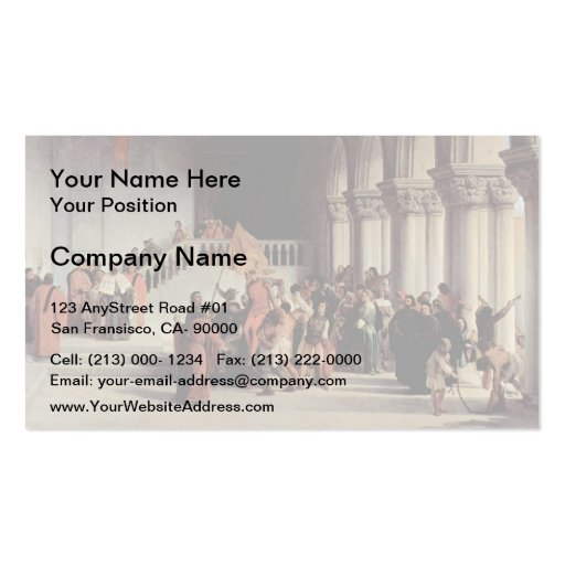 Francesco Hayez- The liberation from the prison Business Card Templates