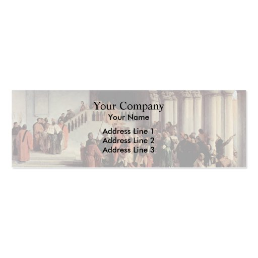 Francesco Hayez- The liberation from the prison Business Card
