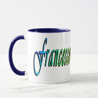 Francesco, Name, Logo, Blue Combo Coffee Mug. Mug