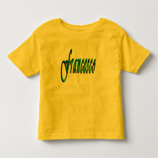 Francesco, Name, Logo, Toddlers Yellow T-shirt