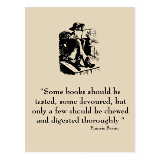 Francis Bacon Quote Postcard