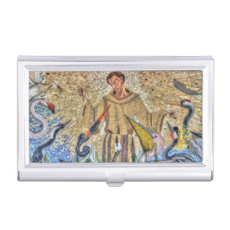 Francis Of Assisi Mosaic Business Card Holder